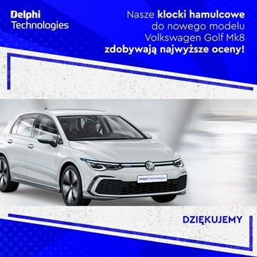Pierwsze na rynku przednie i tylne klocki hamulcowe do nowego Volkswagena Golfa Mk8.