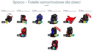 Sparco - Foteliki samochodowe dla dzieci