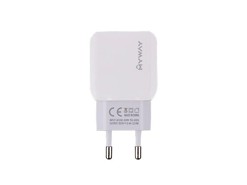ŁADOWARKA SIECIOWA MYWAY 2X USB 2.4A