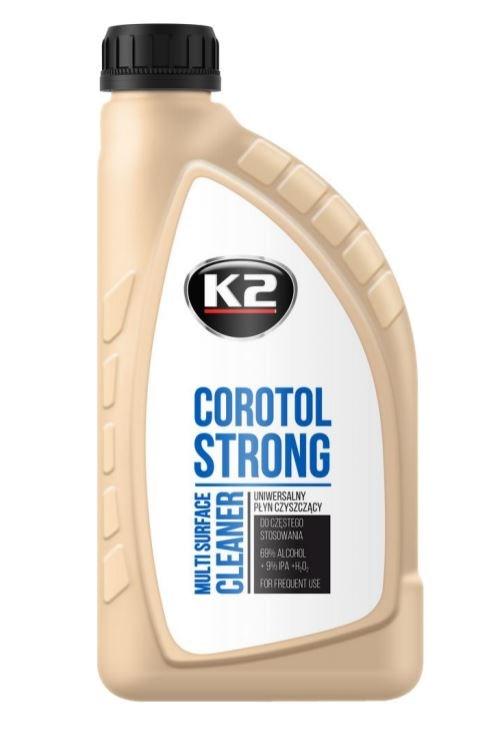 K2 COROTOL STRONG 78% 1L uniwersalny plyn czyszczacy 69% alkoholu etylowego 9% IPA